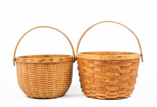 Two Swing Handled Baskets