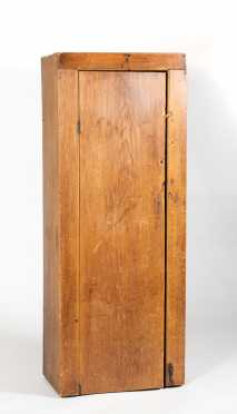Diminutive Pine Architectural Cupboard