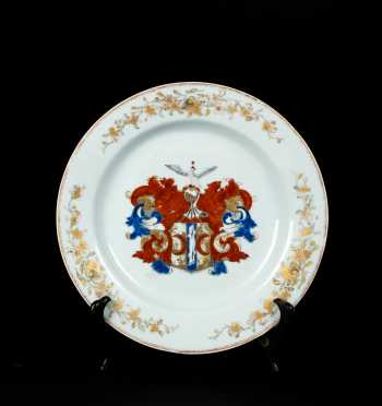 Chinese Export Dutch Market Armorial Plate