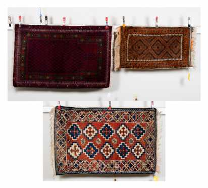 Three 20thC Turkish Made Scatter Rugs