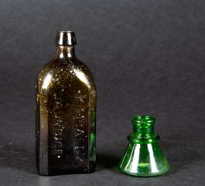 Two Blown 19thC Bottles