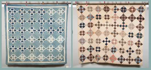 Two Patchwork American Quilts