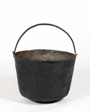 Large 18thC Brass and Wrought Iron Bucket