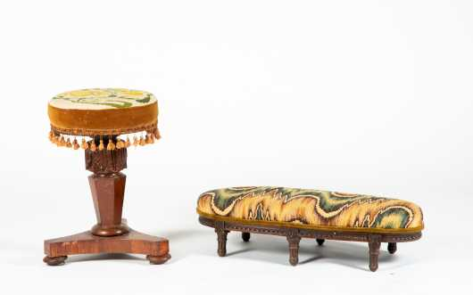 French Empire Piano and Foot Stools