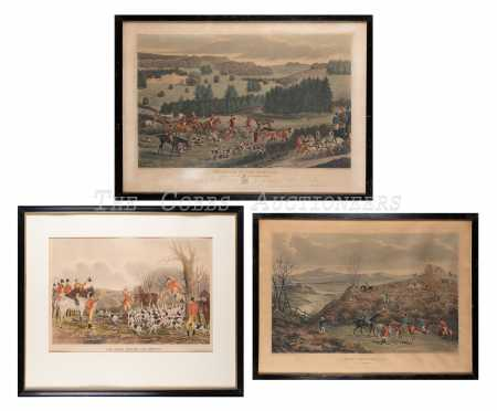 "Lot of Three ""Hunt"" Colored Prints"
