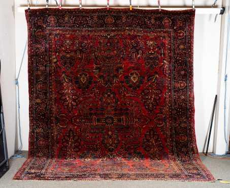 Circa 1930 Sarouk Room Size Oriental Rug