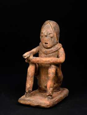 A Pre Columbian Chinesco Seated Figure *AVAILABLE FOR REASONABLE OFFERS*