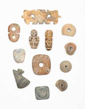 A Group of Pre Columbian Relics