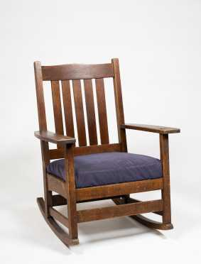 L & JG Stickley Mission Oak Rocker