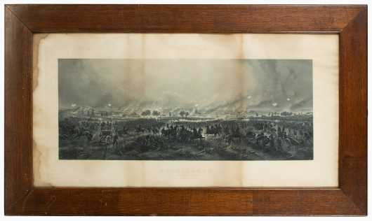 "Engraving: ""Gettysburg: Repulse of Longstreet's Assault,"""