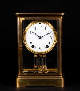 Seth Thomas Brass and Glass Shelf Clock