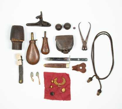 Civil War Era Miscellaneous Miliary Parts Lot