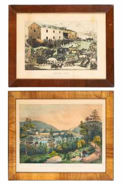 Two Currier and Ives Colored Prints