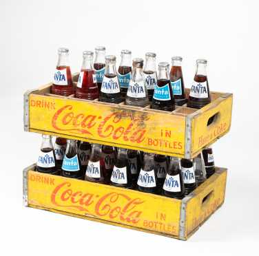 Two Coca Cola Wooden Bottle Carriers