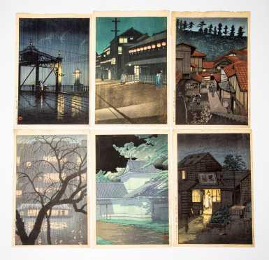 Lot of Six Japanese 20thC Block Prints