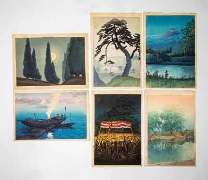 Six 20thC Japanese Block Prints