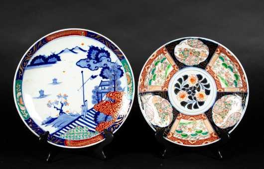 Two Japanese Imari Porcelain Pieces