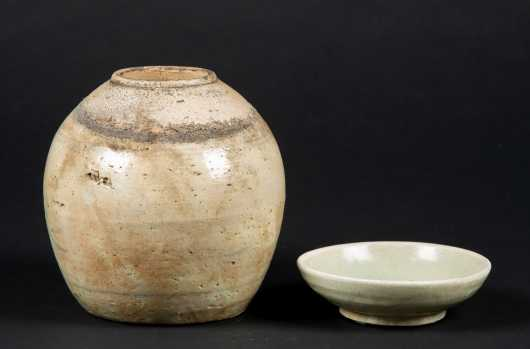 Two Antique Chinese Pottery Pieces with Provenance