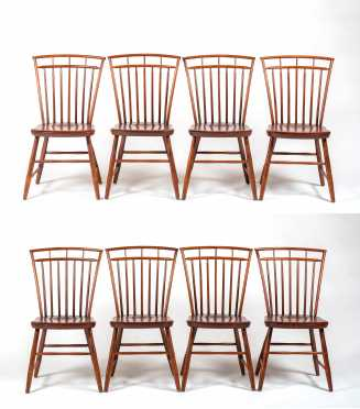 "Set of Eight Reproduction ""Hagerty"" Birdcage Windsor Side Chairs"