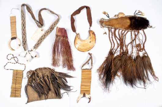 Papua New Guinea Group Lot -- Bride prices, currencies, and decorative objects.