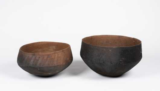 Pair of Trobriand Islands Clay Cooking Vessels