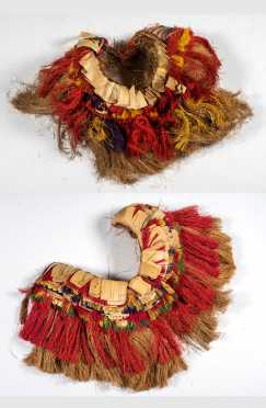 Pair of Trobriand Islands Fiber Skirts, Papua New Guinea.