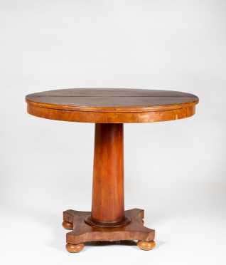 Round Mahogany Empire Center Table