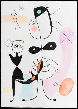 Joan Miro, Spain/France (1893-1983) Attributed