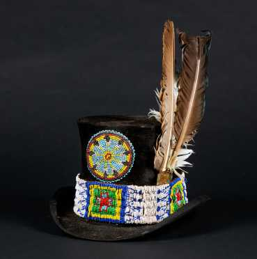 Native American Decorated Top Hat