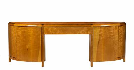 Charles Pfister for Baker Modern Tiger Maple Server/Desk