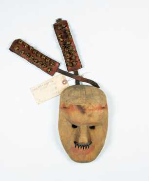 """Native American """"Hopi"""" Dance Mask with Ankle Bells"""