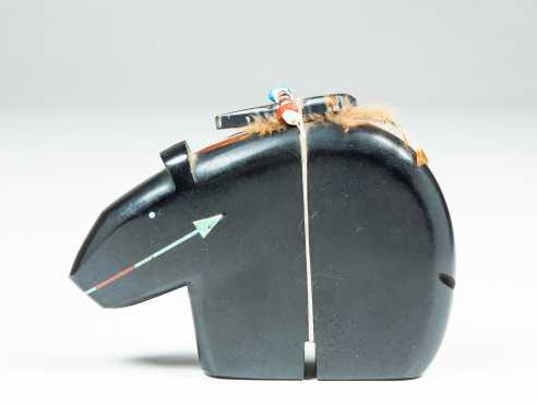 Native American Navajo Carved Jet Black Stone Fetish