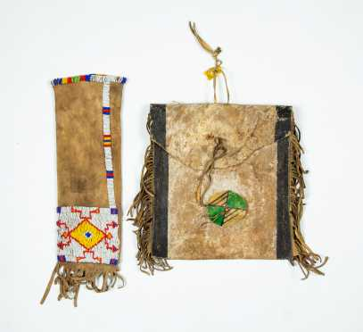 Two Native American Decorated Leather Pieces