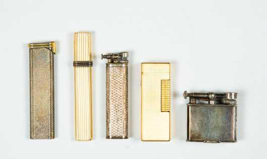 Five Vintage Cigarette Lighters