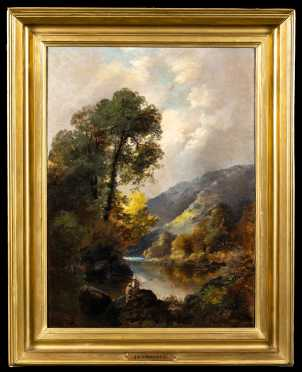 Hudson River School Fall Landscape Painting