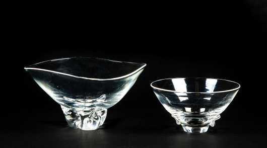 """Two """"Steuben"""" Glass Bowls"""