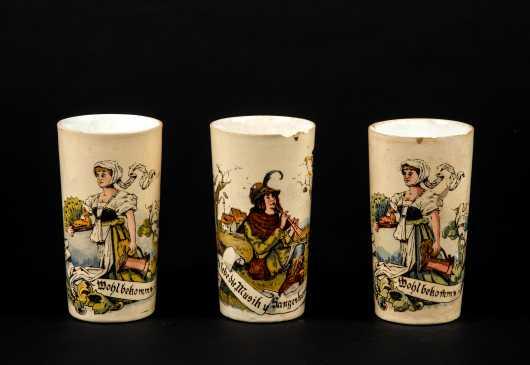 "Three German ""Villeroy & Boch"" Tumblers"