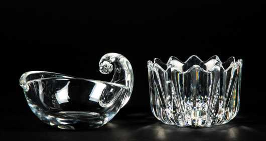 """Steuben"" and ""Orrefors"" Glass Pieces"