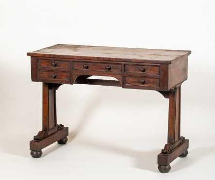 Boston Empire Mahogany Ladies Desk or Dressing Table