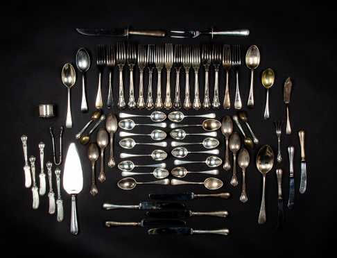 Two Partial Sets of Sterling Silver