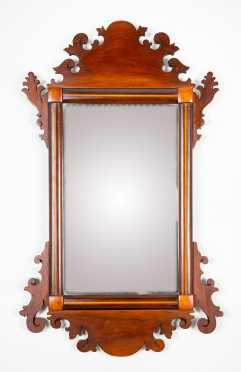 Late Chippendale Mirror with Inlay