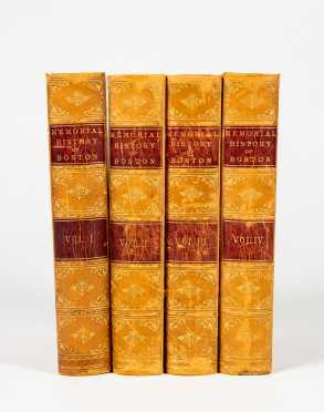 """Memorial History of Boston"" in Four Volumes C1881"