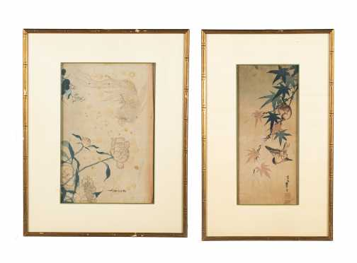 Two Chinese Watercolor on Paper Paintings