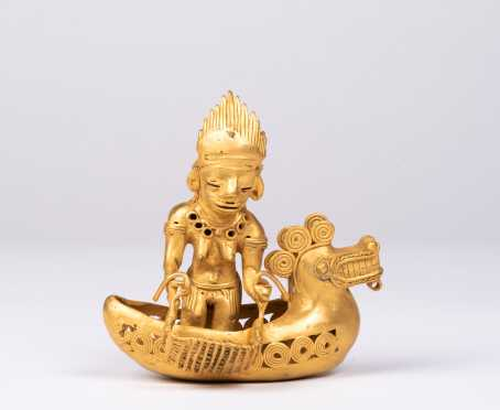 A Pre Columbian Tairona Gold Figural Assemblage