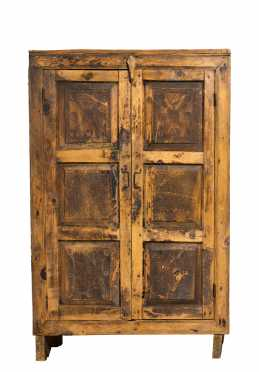 19thC Nepalese Two Door Architectural Cupboard