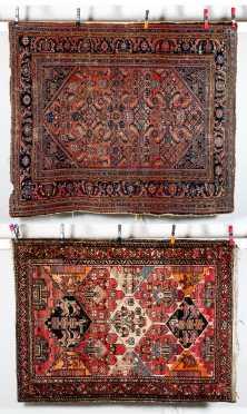 Two Hamadan Oriental Scatter Size Rugs