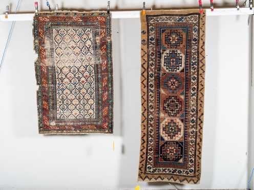 Two Antique Caucasian Oriental Rugs