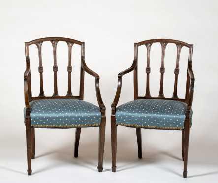 Two Regency Mahogany Armchairs