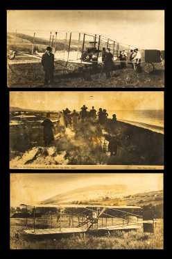 Three Vintage French Photographs of Early 20thC Aviation
