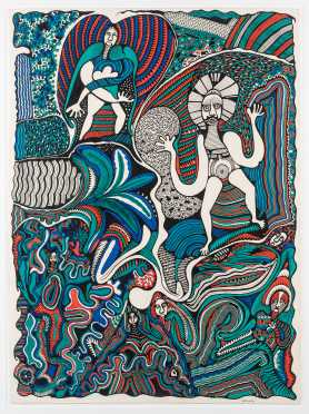Cecil King Wungi (Papua New Guinea, 1952-1984). Original Illustration